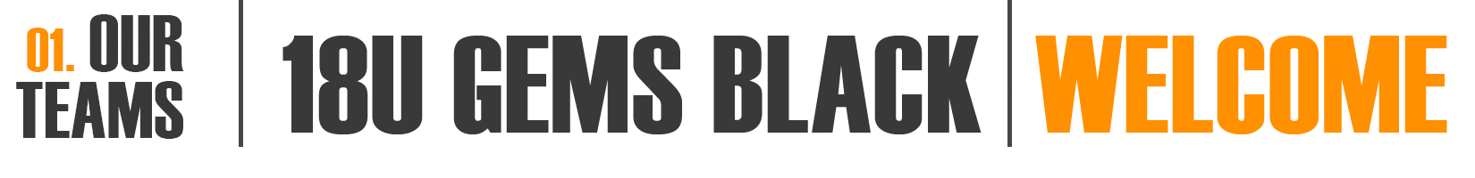 18U Gems Black Welcome